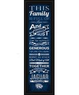 """Augusta University Jaguars - 24 x 8 """"Family Cheer"""" Framed Print - $39.95"""