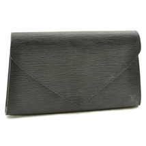 LOUIS VUITTON Epi Leather Art Deco Clutch Bag Black M52632 ar1330 **Sticky - $240.00