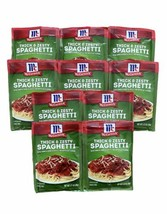 (10) McCormick Thick And Zesty Spaghetti Sauce Mix 1.37oz Exp July Aug 2022 - $60.58