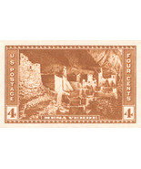 1935 4c Mesa Verde, Imperforate Stamp issued without gum Scott 759 Mint ... - $1.99