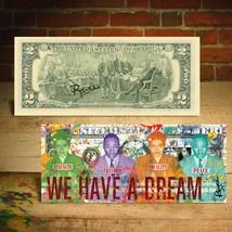 ROSA PARKS / MLK JR - WE HAVE A DREAM Mug Shots $2 Bill HAND-SIGNED by R... - $20.57