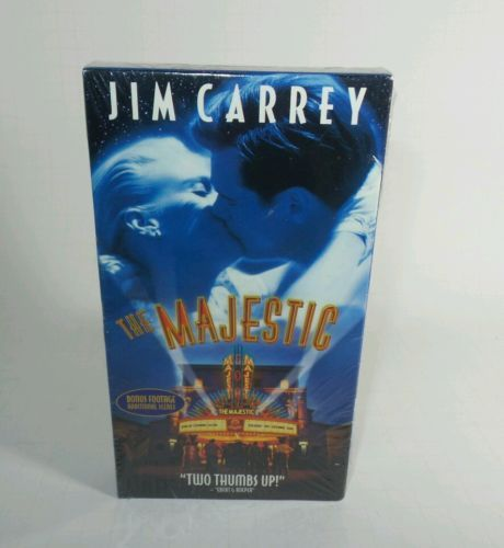 Classic Collectible VTG VHS MOVIE THE MAJESTIC JIM CARREY BONUS FOOTAGE NIB