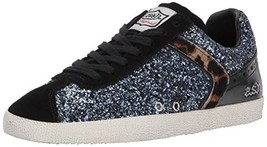 Ash Women's AS-Glitter Sneaker, Black/Navy, 39 M EU 9 US - $89.49