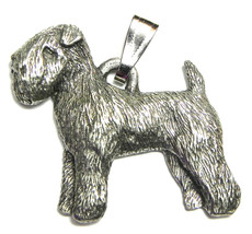 Wheaten Terrier Pendant Dog Harris Fine Pewter Made in USA jewelry - $10.99