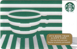Starbucks 2016 Green Illusion Collectible Gift Card New No Value - $4.99
