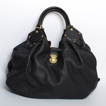 Louis Vuitton Women's Black Mahina Leather Hobo Bag Handbag Shoulder Bag... - $1,463.79