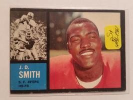 1962 Topps #153 J.D. Smith RB : San Francisco 49ers - $2.80
