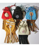 American Made! Multi color Medicine Bags Leather Baby Soft, Hand Crafted... - $20.95