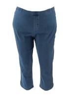 Isaac Mizrahi Tall Knit Denim Pull-On Capri Jeans Light Indigo 24 NEW A3... - $37.60