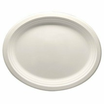 """Durable Eco-Friendly 12.5"""" x 10"""" Bagasse Plates(Oval) - Pack of 50 White... - $18.59"""