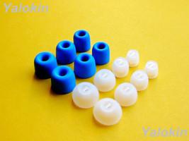 14pcs (BLMF-CLNSEN) Memory Foam and Round Eartips for Sennheiser HD 1 Earphones - $15.39