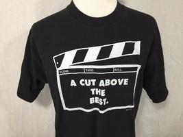 NYU New York University Film Television School Adult XL Black T Shirt Cut Above - $24.74