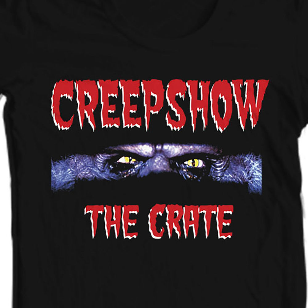 Creepshow The Crate T shirt retro 80s horror movie film free shipping  black