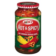 Bick's Hot & Spicy Pickled Hot Banana Pepper Rings 6 x 500ml Canadian  - $79.99