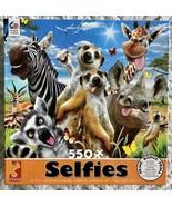 "SELFIES SAFARI ANIMALS 550 PIECE JIGSAW PUZZLE CEACO ~ 24""X18"" ~ Complete - $14.03"