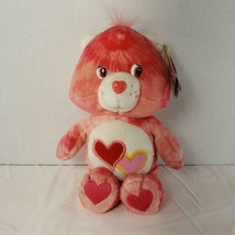 """RARE Care Bears 2003 Pink Tie Dye Love-a-lot Love A Lot 9"""" Plush COLLECT... - $26.11"""
