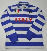Men's RALPH LAUREN Polo RUGBY RLFC Striped S ITALY #3 Sewn Big Kicker Fo... - $37.87