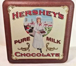 Hershey's Pure Milk Chocolate The Hershey Girl Collectors Tin Tins Brown... - $11.87