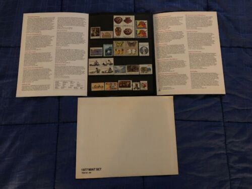 1977 USPS Mint Set of Commemorative Stamps Folder & Stamps