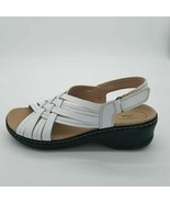 Collection By Clarks Womens Lexi Carmen Slingback Sandals White Wedge 11... - $56.42