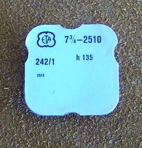 ETA 7 3/4 L cal 2510 h135 parts #242 Center Wheel & Canon Pinion Watch Part - $25.00