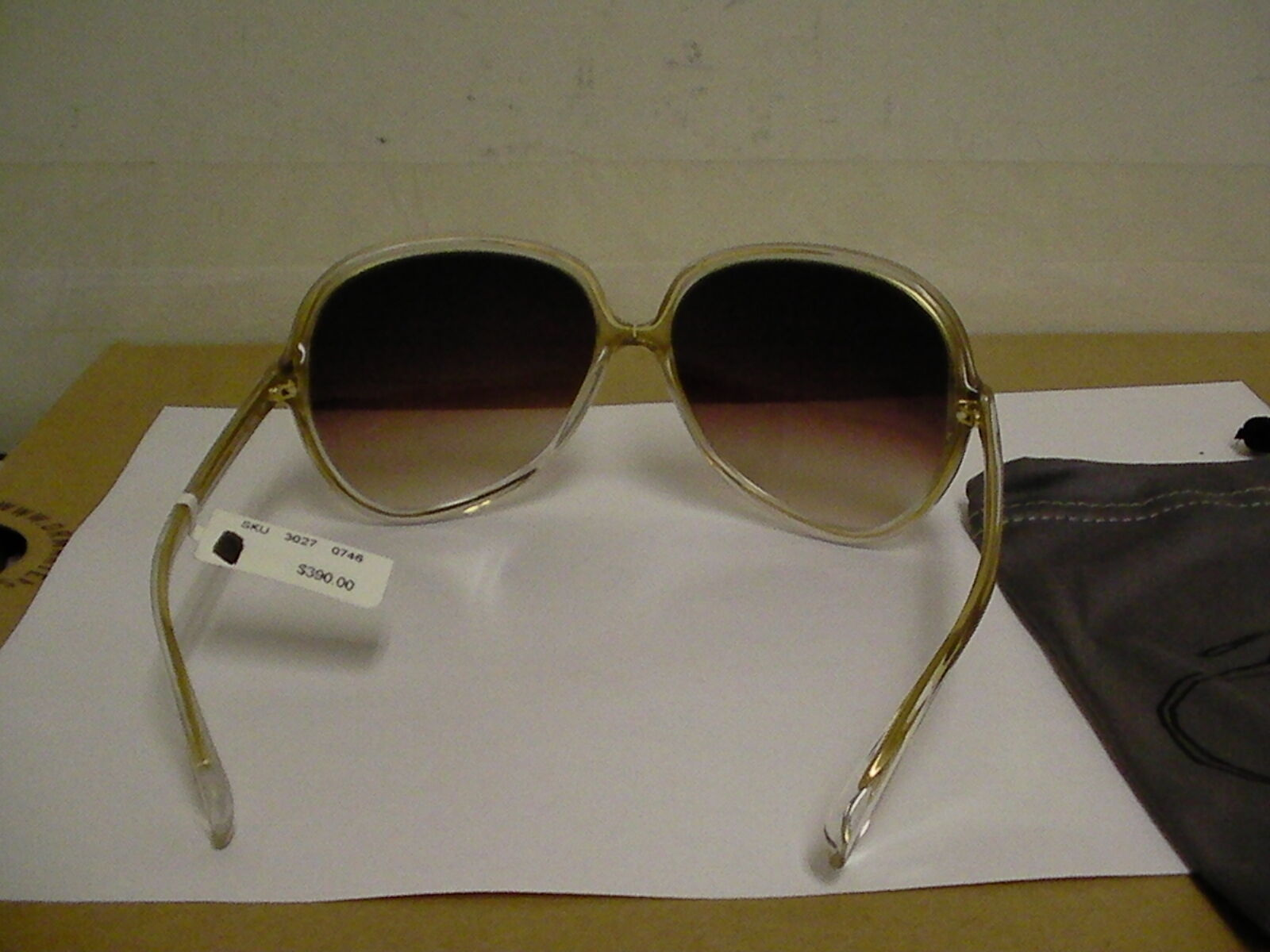 Oliver people women sunglasses Sofiane oval clear gold frame made in japan image 4