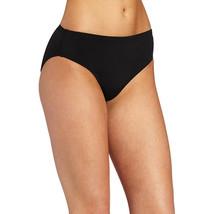 Speedo Women's Swimsuit Bottom Bikini Endurance+ High Waist, Black, 10 - $32.64