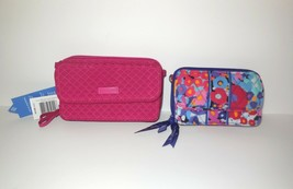 Vera Bradley new RFID All In One Crossbody Wallet NWT Passion Pink Missing Strap - $29.00
