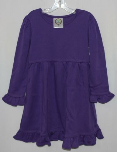 Blanks Boutique Long Sleeve Empire Waist Purple Ruffle Dress Size 4T