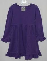 Blanks Boutique Long Sleeve Empire Waist Purple Ruffle Dress Size 4T image 1