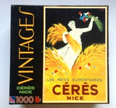 """Ceres Nice Sure-Lox Vintages 1000 Piece Jigsaw Puzzle 19x28"""" Brand New - $14.88"""