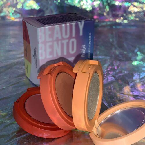 NEW IN BOX Kaja Beauty Bento Bouncy Shimmer Eyeshadow Trio Poppy Champagne