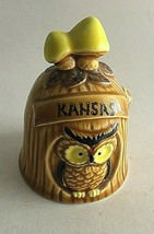 "Vintage Kansas Ceramic Owl Bell - Made in Japan Mid Century Modern 4"" X ... - $11.14"