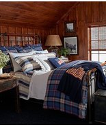 Ralph Lauren Saranac Peak Bentwood Plaid Duvet Cover Full / Queen - $229.00