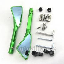 Pair CNC Motorcycle Rear Side Mirrors For Suzuki Honda Kawasaki Yamaha KTM Green - $24.99