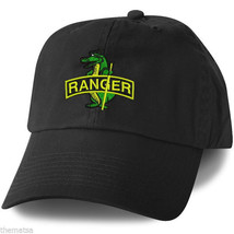 ARMY RANGER ALLIGATOR  EMBROIDERED MILITARY BLACK HAT CAP - $31.58
