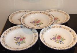 "5 Royal Worcester Midsummer Day Soup Plates 9"" - $145.00"