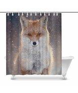 InterestPrint Red Fox in Winter Forest Funny Animal Waterproof Shower Cu... - $37.61