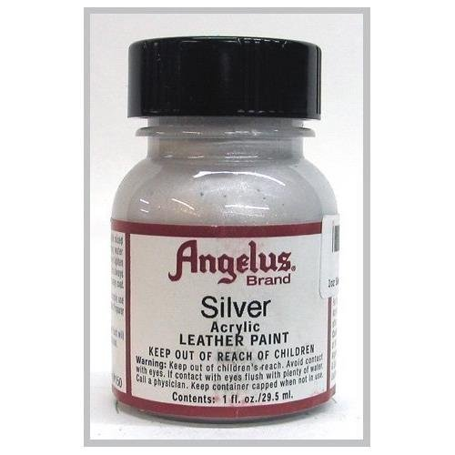 Angelus Acrylic Leather Paint-1oz.-Silver