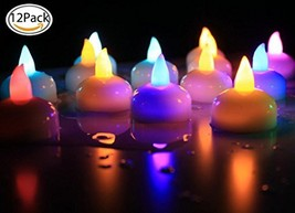 Healthcom Waterproof Color Changing Flameless Tea Lights Candle Flameles... - $13.64