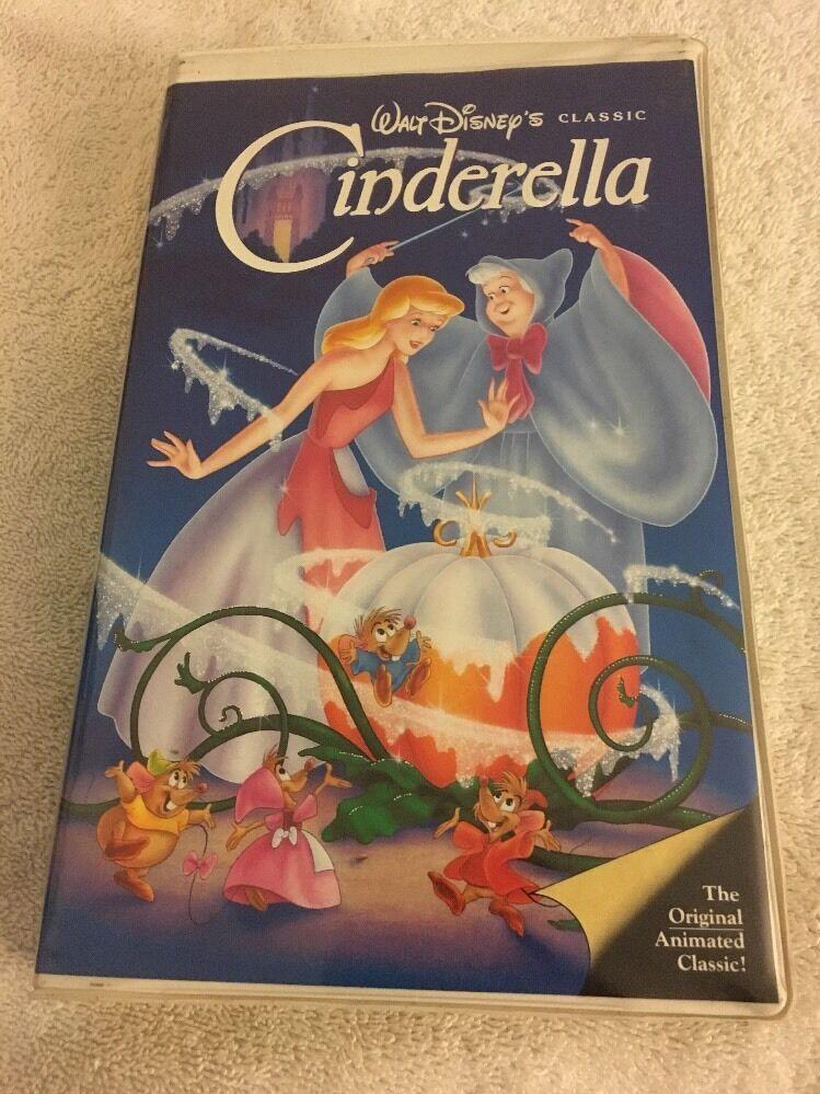 Walt Disney Cinderella VHS Black Diamond Classic Clamshell Case