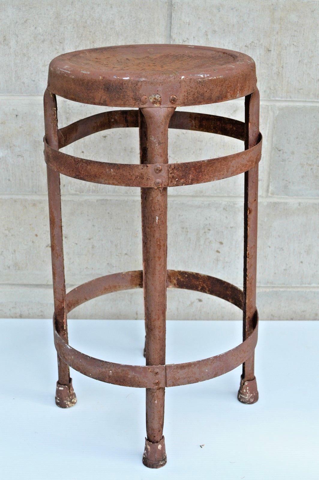 Amazing Vintage Industrial Metal Stool Machinist And 50 Similar Items Inzonedesignstudio Interior Chair Design Inzonedesignstudiocom