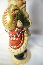 Vaillancourt Candy Cane Santa with Gold Bag personally signed by Judi! image 4