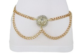 Sexy Women Gold Metal Chain Bling Lion Charm Buckle Fashion Special Belt... - $33.28