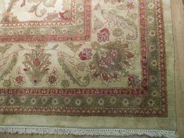 New Smooth Wool Authentic Handmade 10' x 14' Beige Jaipur Wool Rug image 7