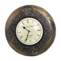 "12"" Antique Brass FTD Decorative Wall Clock Wooden Wall Clock/Vintage Wa... - €85,92 EUR"