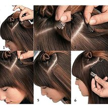 """24"""" Remy Clip in on Hair Extensions Remy Human Hair Standard Weft 80g 8 Pcs 18 C image 9"""