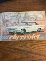 1966 CHEVROLET CAPRICE IMPALA BEL AIR CAR ORIGINAL OWNERS MANUAL SERVICE... - $15.62