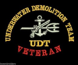 Underwater Demolition Team UDT Veteran Army Military Embroidered Polo Shirt - $32.95+