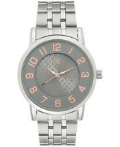 I. N.c. Internationale Concepts Herren Silberfarben Link Armbanduhr 42mm Neu Ovp